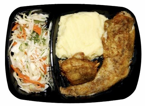 Готовый обед с рыбой